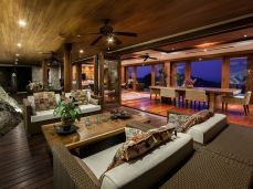 villa shambala living room rock